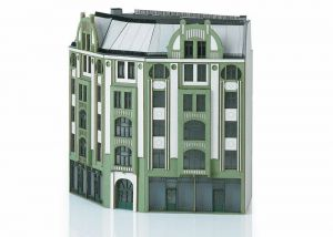 Building Kit for a Large Corner City Building in Art Nouveau