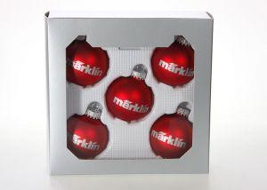 Weihnachtskugeln klein rot