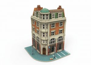 "Märklin Start up - ""Corner Building with a Bank"" 3D Building Puzzle"